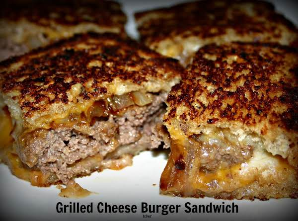 Colleen S Grilled Cheese Burgers Just A Pinch Recipes