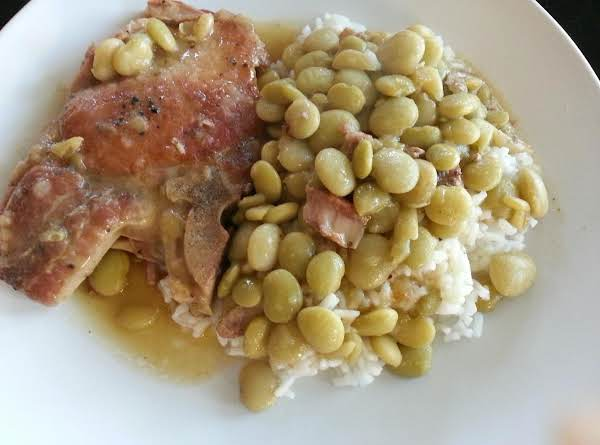 Cajun Comfort Pork Chops And Baby Lima Beans Recipe