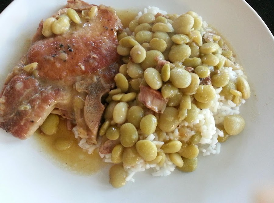 Cajun Comfort Pork Chops And Baby Lima Beans Recipe Just A Pinch