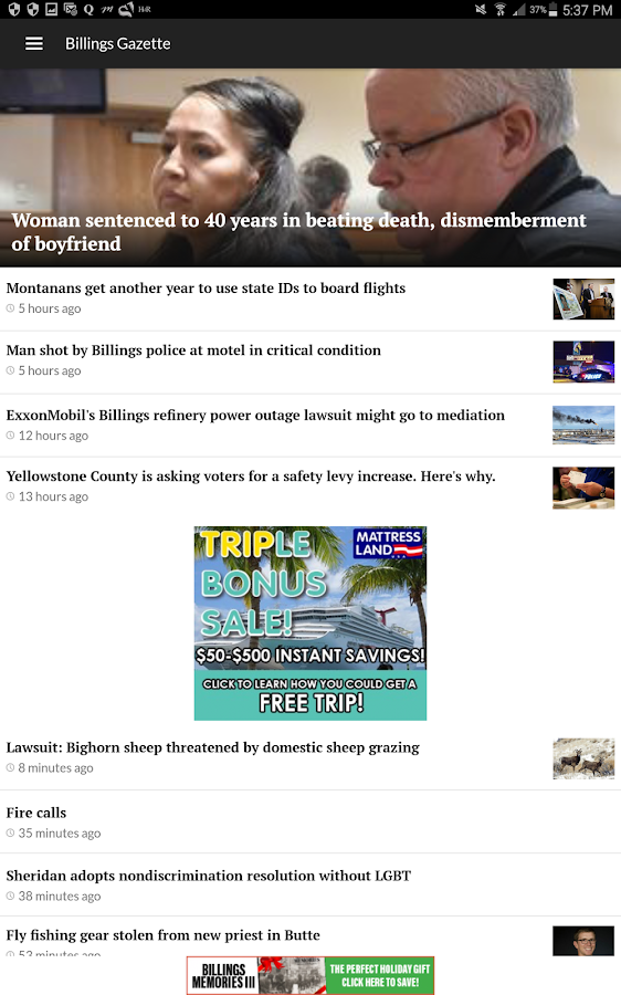 Billings Gazette- screenshot