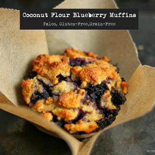 Coconut Flour Blueberry Muffins {Gluten-Free, Paleo}