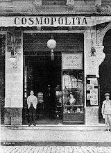 Photo: Salão Cosmopolita, especializado em beleza feminina e masculina. Localizava-se na Rua do Imperador. Provavelmente foto da década de 20 ou 30