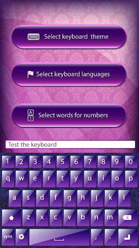 Purple Glow Keyboards