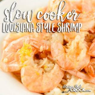 Slow Cooker Louisiana Style Shrimp.
