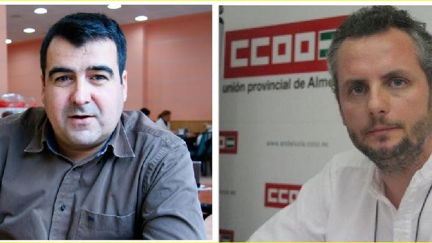 Andrés Góngora, secretario de Coag y javier Castaño, secretario de Industria de CCOO.