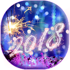 Happy New Year Wallpaper 2018 - Holiday Background icon