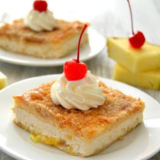 Pineapple Upside Down Cheesecake Bars
