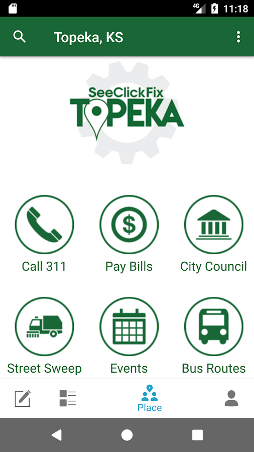 SeeClickFix Topeka- screenshot