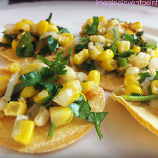 Roasted Corn Salsa Mini Tostadas