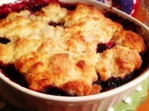 Buttermilk Biscuit-Topped Berry Cobbler