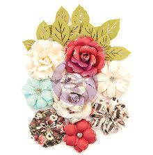 Prima Midnight Garden Mulberry Paper Flowers 14/Pkg - Garden Blooms UTGÅENDE