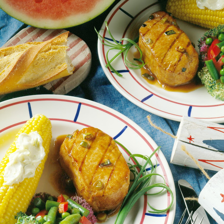 Grilled Pork Chops in Ginger Marinade Recipe