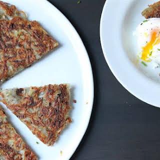 Crispy Rösti Potatoes with Oven-Poached Eggs.