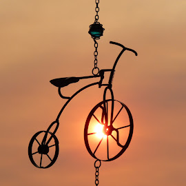 Wind Chime Sunset by Laurie DeMent - Artistic Objects Other Objects