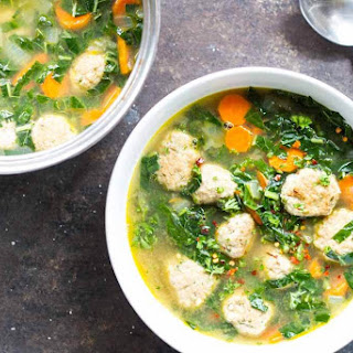 30 Minute Turkey Meatball and Kale Soup.