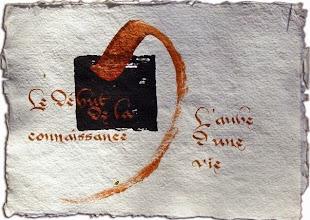 Photo: un vieux truc sur papier moulin, avec de la poudre de bronze et de la colle.. à refaire un jour, en mieux !