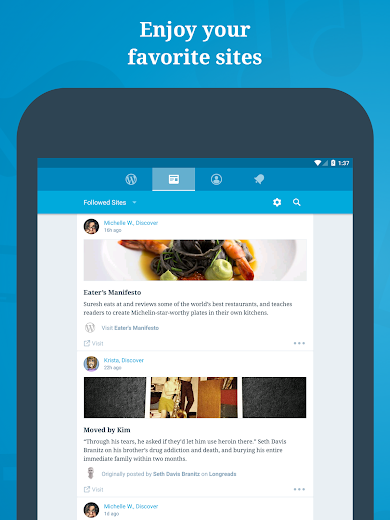 Screenshot 5 for WordPress's Android app'