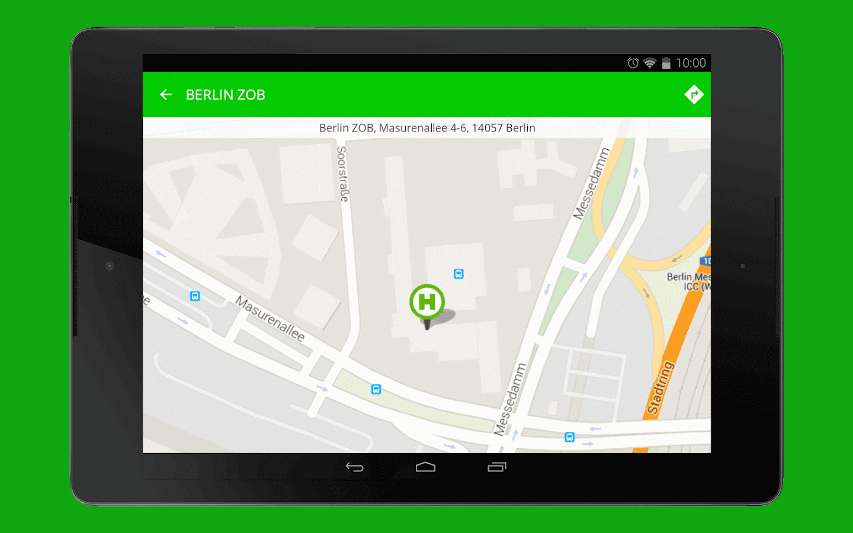 FlixBus bus app - screenshot