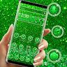 download Green Glitter Sparkling Theme apk