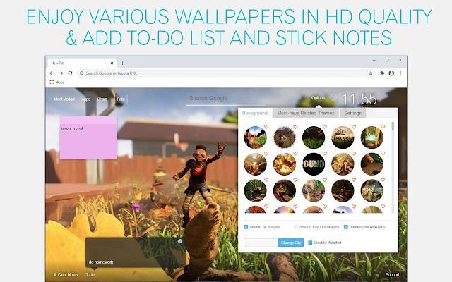 Grounded Wallpaper HD Custom New Tab