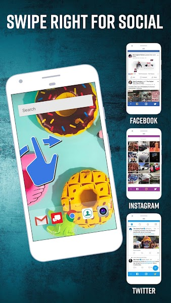 Social Home Widget and Launcher