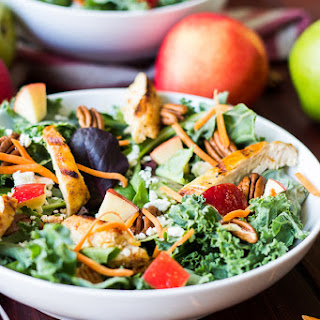 Kale and Apple Salad with Maple Balsamic Dressing