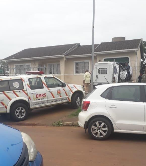 The scene at Jan Roz Crescent in Fairbreeze, Tongaat, where a 63-year-old woman was found bludgeoned to death on Monday.