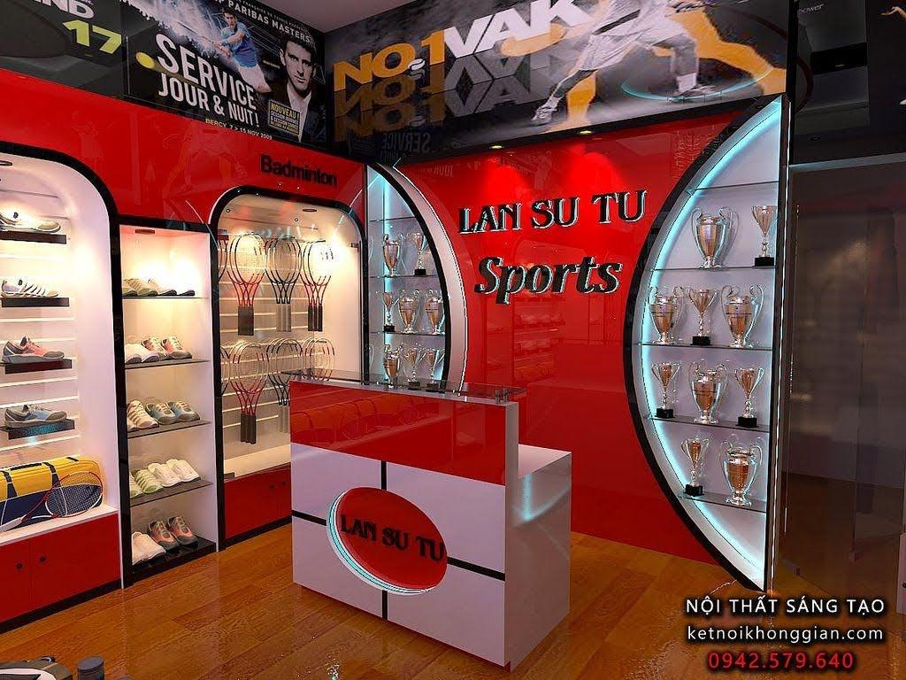 thiết kế shop thời trang thể thao Lân sư tử 4