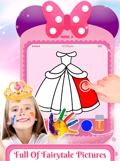 Pink Little Talking Princess Baby Phone Kids Game screenshot 2