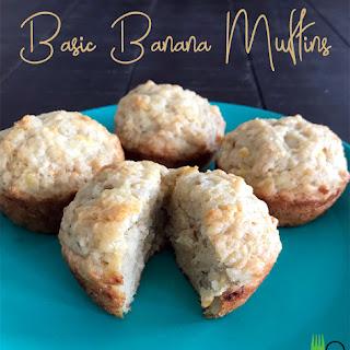 Basic Banana Muffins.