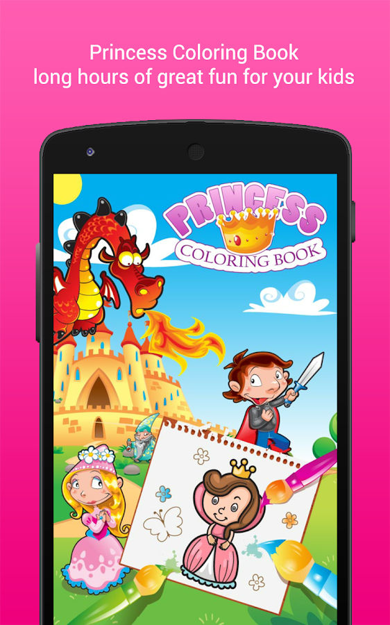 Coloring Book Princess Girls- screenshot