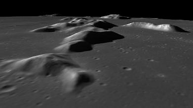 Photo: The Teneriffe Mountains in Mare Imbrium, near Plato crater.