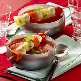 Scharfe Tomatensuppe mit Melone