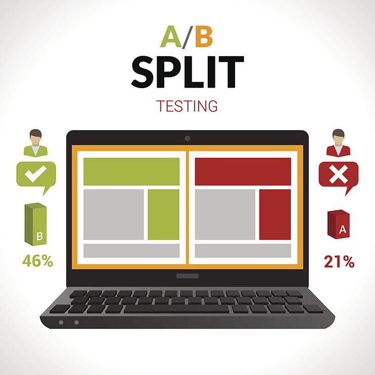 A/B Split testing graphic
