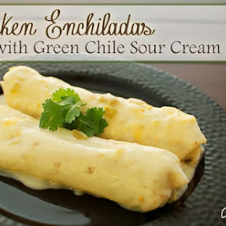 Green Chile Enchiladas With Sour Cream Sauce Recipes.