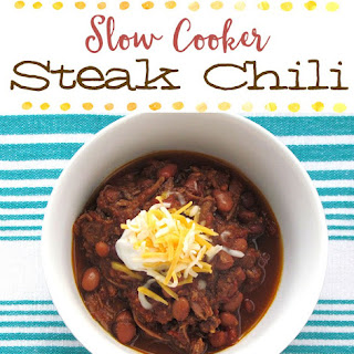 Slow Cooker Steak Chili {Freezer Meal}