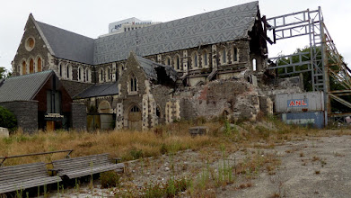Photo: The structure of the ChristChurch Cathedral was severely damaged by the February 2011 earthquake which destroyed the spire and part of the tower.