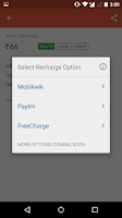 Screenshot of Recharge Plans, Packs, Offers