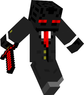 Red Eye Enderman in a suit.