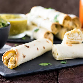 Healthy Baked Chicken Taquitos.