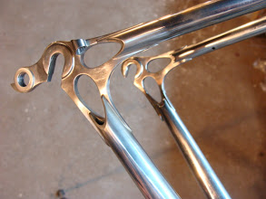 Photo: Stainless Ellis dropouts with a Di2 wire guide.