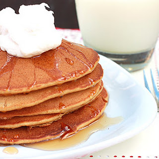 Gingerbread Pancakes with Maple Syrup and Banana Whipped Cream Recipe