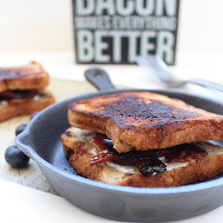 Candied Bacon Goat Cheese Blueberry Grilled Cheese Recipe