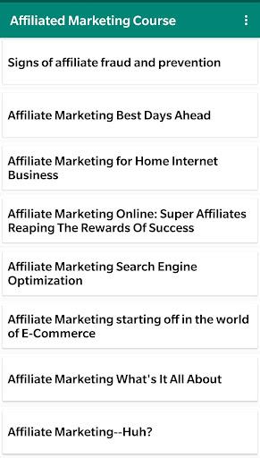 Affiliate Marketing Course : Marketing Affiliate screenshots 2
