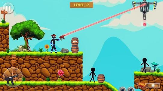 Stickman Shooting: Free offline 2D shooting games 3