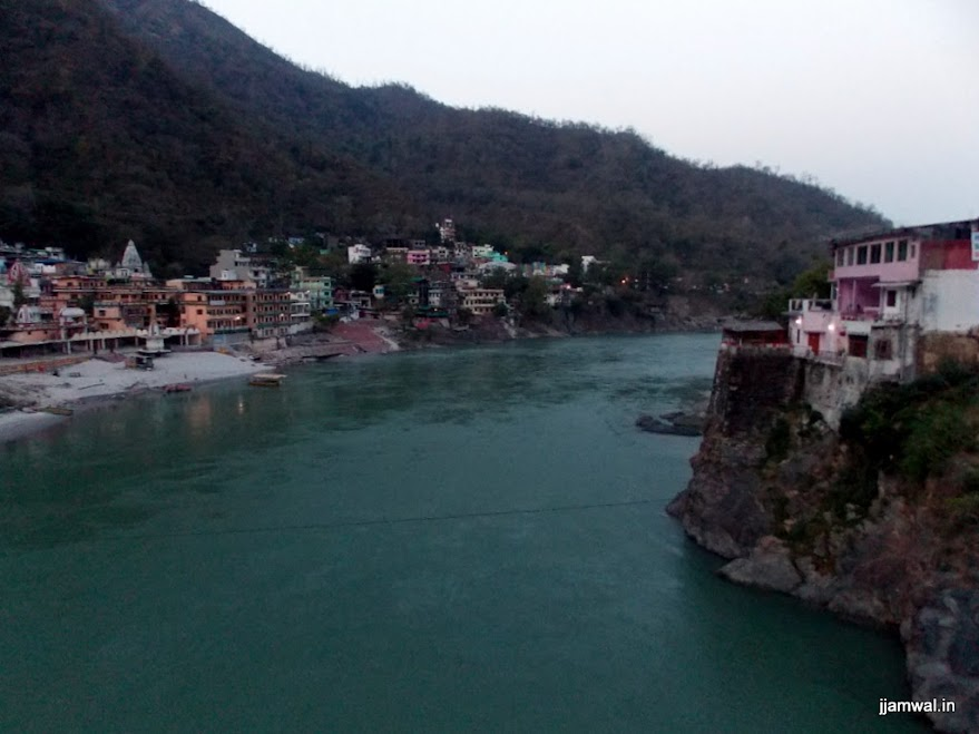 Early morning view of river Ganga from Laksham Jhula