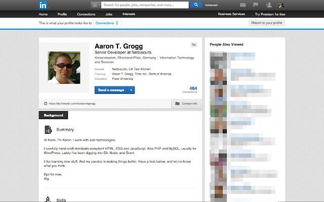 Convert LinkedIn Profile to Printable chrome extension