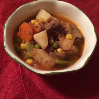 Made From Scratch Vegetable Beef Soup.