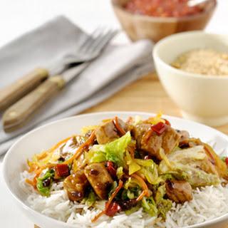 Gewokte Babi Ketjap met Chinese kool en rijst