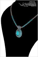 Photo: Pendant in Turquoise and Silver Colors - Прикраса в бірюзових і срібних тонах
